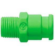 Штекер БРС без клапана зеленый Cube Cupla SPC-10PM-VL-GRN POM SG