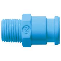 Штекер БРС без клапана синий Cube Cupla SPC-10PM-VL-BLU POM SG