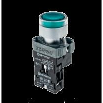 Кнопка с LED подсветкой с пружинным возвратом MEYERTEC MTB2-BW3361