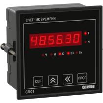 Счетчик времени наработки оборудования ОВЕН СВ01-220.Щ1.Р.RS