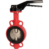 Затвор дисковый поворотный чугунный межфланцевый Rushwork 200-050-16 Ру16 Ду50 (PN16 DN50)