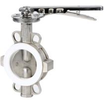 Затвор дисковый поворотный межфланцевый из нержавеющей стали Genebre 2104-09 DN50, PN10