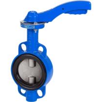 Затвор дисковый поворотный межфланцевый чугунный Genebre 2109-14 DN150, PN16