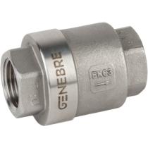 Клапан обратный дисковый резьбовой из нержавеющей стали Genebre 2416-04 DN15 PN63