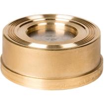 Клапан обратный пружинный латунный межфланцевый ZETKAMA 275H-025-C50 Ру16 Ду25 (PN16 DN25 )