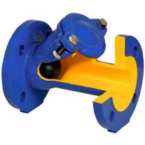 Клапан обратный шаровой чугунный фланцевый ZETKAMA 400D-080-C-55 Ру16 Ду80 (PN16 DN80 )