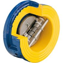 Клапан обратный двухстворчатый чугунный межфланцевый ZETKAMA 407A-050-C54 DN50 PN16