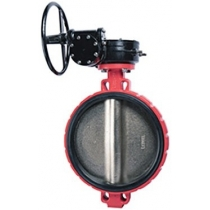 Затвор дисковый поворотный чугунный межфланцевый Rushwork 200-350-16 Ру16 Ду350 (PN16 DN350)