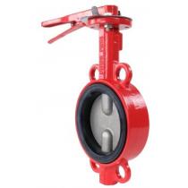 Затвор дисковый поворотный чугунный межфланцевый Rushwork 201-080-16 DN80 PN16