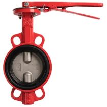 Затвор дисковый чугунный межфланцевый Rushwork 215-150-16 DN150 PN16