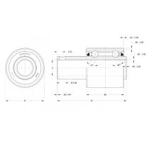 Подшипник специальный PER.5203RPP54 16,256х40х39,12 мм SKF