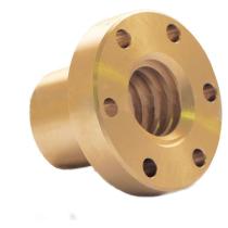 Гайка трапецеидальная с фланцем (бронза) d=20 мм, шаг резьбы 4 мм (прав. резьба), BFM 20-4-D TECHNIX