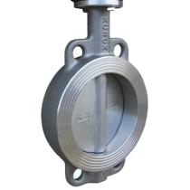 Затвор дисковый поворотный нержавеющая сталь межфланцевый с ISO-фланцем XUROX 505WM Ру16 Ду100 (PN16 DN100)