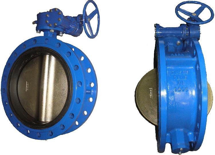 Затвор поворотный дисковый межфланцевый ABRA BUV-FL226 PN16 DN700