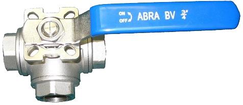 Кран шаровой трехходовой резьбовой с ISO-фланцем ABRA BV15-T PN40 DN80