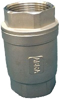 Клапан обратный резьбовой из нержавеющей стали ABRA D12 PN40 DN50