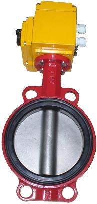 Затвор дисковый чугунный с электроприводом ABRA BUV-VF826D PN16 DN125 GGG40 EPDM