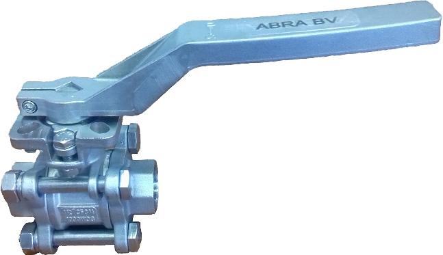 Кран шаровой резьбовой с ISO-фланцем ABRA BV11 PN40 DN80