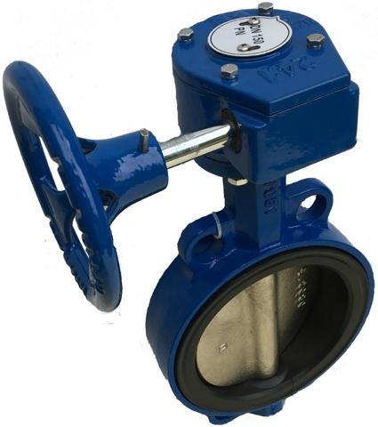 Затвор поворотный дисковый межфланцевый ABRA BUV-VF826 PN16 DN100MR
