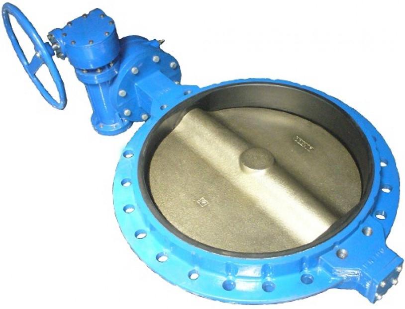 Затвор поворотный дисковый межфланцевый ABRA BUV-VF826 PN16 DN800