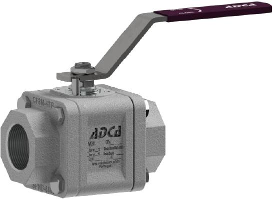 Кран шаровый из нержавеющей стали резьбовой ADCA M3i1 DN50 PN100