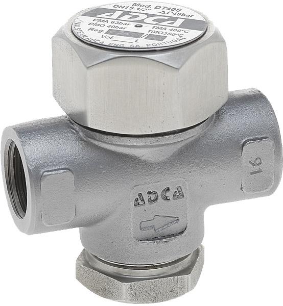 Конденсатоотводчик термодинамический из нержавеющей стали резьбовой ADCA DT40S DN3/4 PN40