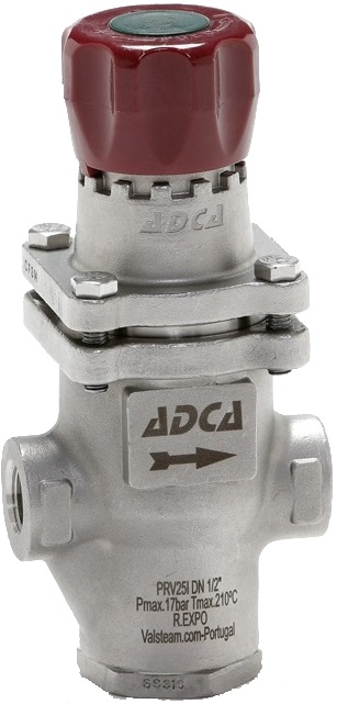 Клапан редукционный прямого действия из нержавеющей стали резьбовой ADCA PRV25I P1,4-4 DN3/4 PN25