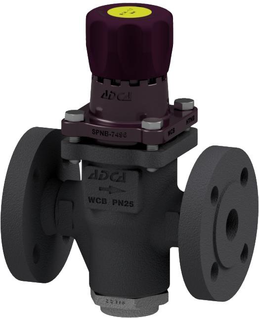 Клапан редукционный прямого действия из стали фланцевый ADCA PRW25/2S P3,5-8,6 DN25 PN25
