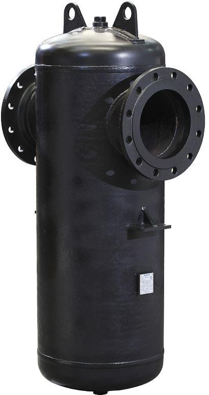 Сепаратор для пара и сжатого воздуха из углеродистой стали фланцевый ADCA S25S DN15-300 PN16