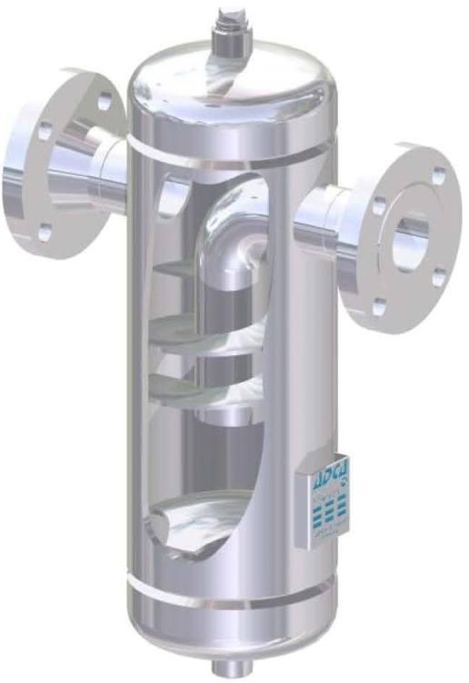Сепаратор для пара и сжатого воздуха из нержавеющей стали фланцевый ADCA S25SS DN150 PN40