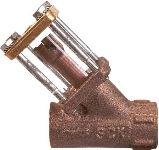 Стекло смотровое боросиликатное с обратным клапаном в бронзовом корпусе ADCA SCK DN1/2 PN10