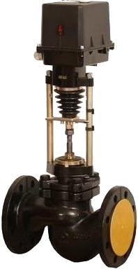 Клапан регулирующий односедельный с ЭИМ Арма-Пром 25нж947нж-DN80-КV80-PN25-ST0,1
