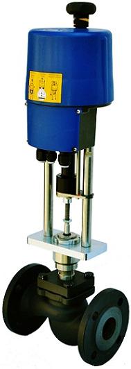 Клапан регулирующий с промышленным электроприводом АСТА-Р11-065-80Л-рСТ-16-01-200-Ф/PSL202-220B DN65 PN16