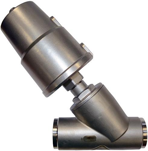 Клапан пневматический из нержавеющей стали АСТА-Р12-032-23,1O-M-16-04-200-C/ПП63 (НЗ) под сварку DN32 PN16