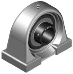 Высокотемпературный подшипниковый узел BECO UCPA205 BHTS ZZ 280°С