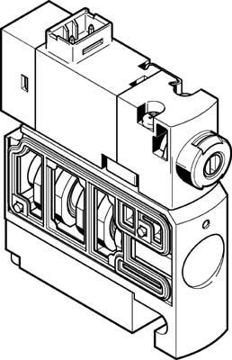 Распределитель с электроуправлением Festo CPVSC1-M1LH-D-T-M5C