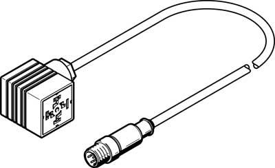Соединительный кабель Festo NEBC-A1W3-K-0.3-N-M12G5