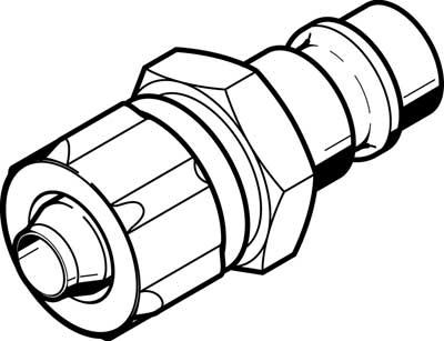 Быстроразъемный штекер Festo KS4-CK-9