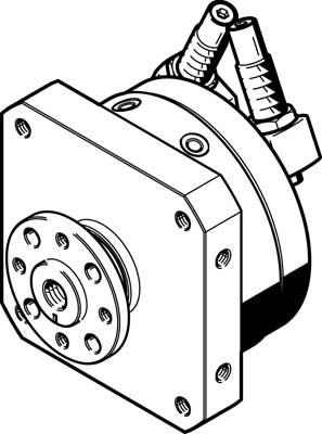 Неполноповоротный привод Festo DSM-25-270-CC-FW-A-B