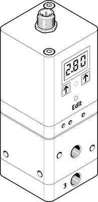 Пропорциональный регулятор давления Festo VPPE-3-1-1/8-2-420-E1T