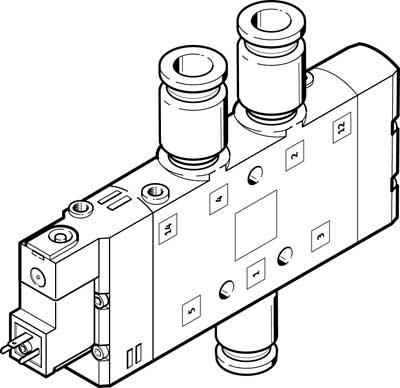 Распределитель с электроуправлением Festo CPE24-M1H-5L-QS-10