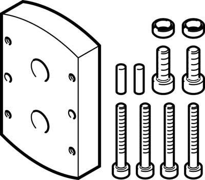 Адаптерная плита для параллельного захвата Festo DHAA-G-Q11-20-B5-12