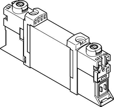 Распределитель с электроуправлением Festo VUVG-B10A-P53C-ZT-F-1P3