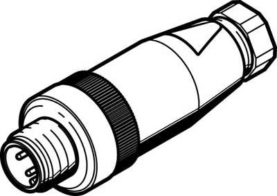 Штекер Festo NECU-S-M12G4-P1-Q6-IS