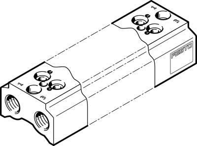 Плита для блочного монтажа Festo CPE14-3/2-PRS-3/8-2-NPT