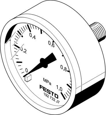 Манометр Festo MA-40-1-G1/8-MPA