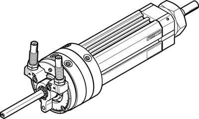 Поворотно-линейный модуль Festo DSL-40-80-270-CC-A-S2-B