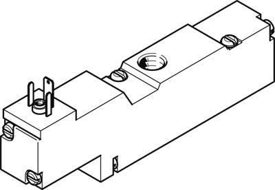 Распределитель с электроуправлением Festo MEBH-3/2-1/8-P-B-110AC