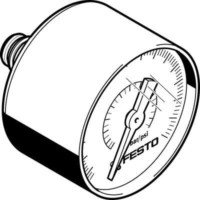 Манометр Festo PAGN-40-1.6M-R18-1.6