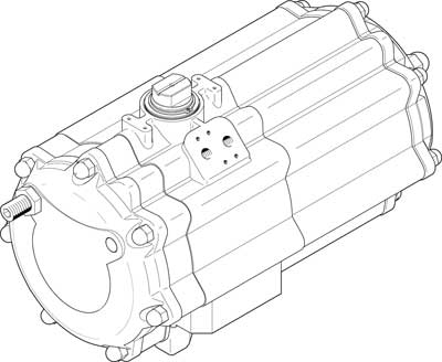 Неполноповоротный привод Festo DAPS-2880-090-R-F16-T6